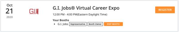 GI Jobs Virtual Career Expo - Event Control Center