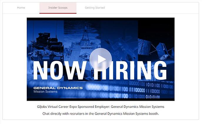 GI Jobs Virtual career Expo - Sponsored Webinar in GIJ Booth